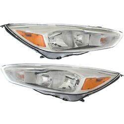Fo2502340 Fo2503340 Headlight Lamp Left-and-right Lh And Rh For Ford Focus 15-18