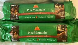 Pine Mountain Logs Burns For 4 Hours Lot Of 2 - 4.8 Lbs