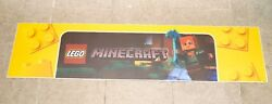 Toys R Us Lego Minecraft 48in X 12in Valance Display Sign