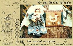 ANNIE AND HER CHICKEN PATTERN 22quot; DOLL amp; 11quot; X 12quot; APPLIQUE YOU ARE SPECIAL