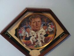 Mickey Mantle Greatest Switch Hitter Gold Edition 101/4 In Collectorsandnbsp Plate.andnbsp Andnbsp