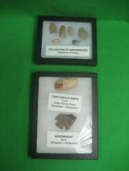 Collectibles Set Of Six 6 Arrowheads From Oklahoma Territory + Set Of Two