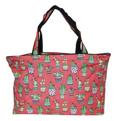 Cactus Beach Tote Bag Extra Large For Women Designer Open Gym Travel Carry On $26.50