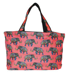 Elephant Beach Tote Bag Extra Large For Women Designer Open Gym Travel Carry On $26.50