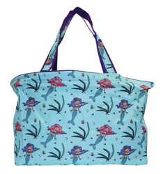 Mermaid Beach Tote Bag Extra Large For Girls Designer Open Gym Travel Carry On $26.50