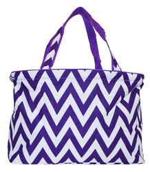 Chevron Beach Tote Bag Extra Large For Women Designer Open Gym Travel Carry On $26.50
