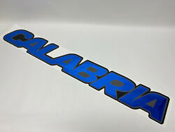 Calabria Boat Rear Decal Blue Silver Black 42 X 6 Inch River Water Resistant