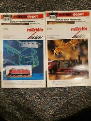Marklin Insider Magazine 1994 Lot Of 2 Issues English - 1/95 And 2/95