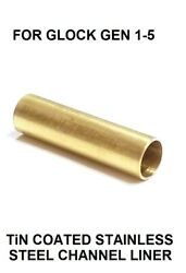 Tin Coated Stainless Steel Channel Liner For Glock Gen 1 - 5 Models