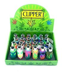 Clipper Cigarette Lighters Refillable Lighter Collection Pack Of 24 Pcs