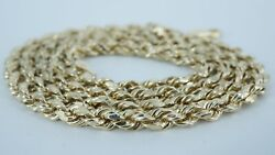 18.75 Inch 10k Yellow Gold Rope Necklace