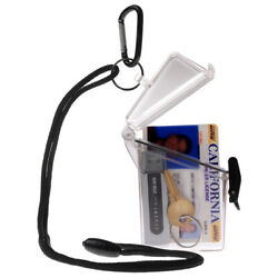 WITZ See it Safe Clear Waterproof ID Badge  Card Holder Case w Lanyard  $7.99