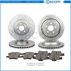 Ceramic Brake Pads And Rotors Front Rear For Mercedes-benz R350 2006-2011
