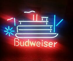 Collectible 2007 Rare / Vintage Budweiser Steamboat Neon Light Sign Made In Usa