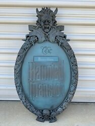 Disney The Haunted Mansion Emblem Gate Plaque With Nameplate
