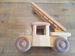 Kids Toy Natural Wood Hand Crafted Wooden Handcrafted Vintage Truck Car Decor