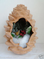 Dept 56 -pine Cone Diorama Made In Taly
