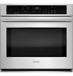 """Monogram 30"""" Stainless Steel Single Electric Convection Wall Oven Zet9050shss"""