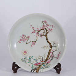 15 Old Yongzheng Marked Famille Rose Porcelain Painting Peach Blossom Plate
