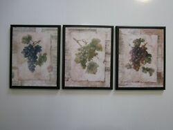 Grapes Kitchen Wood Wall Decor Plaques Italian French Bistro Style Wine