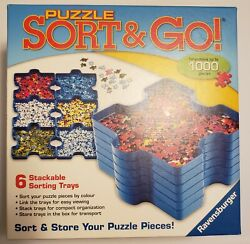 Ravensburger Sort And Go Jigsaw Puzzle Storage Up To 1000 Pcs With Animal Puzzle