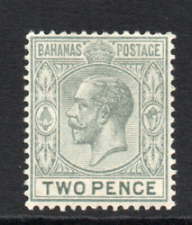 Bahamas 2d C1912-19 Mounted Mint Stamp 2388