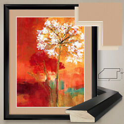 32wx40h Buon Giorno I By Liv Carson - Floral - Double Matte, Glass And Frame