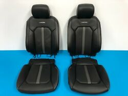 2018 2019 FORD F150 PLATINUM FRONT SEAT COVER WITH FOAM BLACK & GRAY LEATHER
