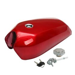Fuel Gas Tank For Honda Cg125 Aa001 Motorcycle Cafe Racer Vintage 9.2l Red