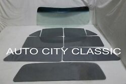 1953 1954 Chevy Wagon Glass Pont 2 Seat Gb Windshield Grey Vent Door Qtr Back
