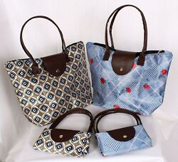 Women#x27;s Folding Tote Beach Bags $6.99