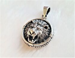 925 Sterling Silver Pendant Lion Head Royal Leo Kingand039s Exclusive Gift Talisman