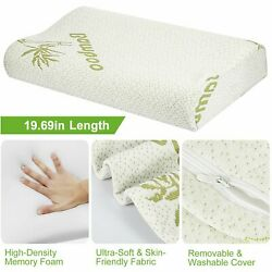 Bamboo Sleeping Orthopedic Memory Foam Pillow Contour Cervical Neck Support