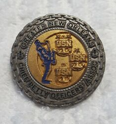 Authentic Greater New Orleans Chief Petty Officer Usn Navy Rare Challenge Coin