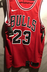 Nba Nikeconnect Michael Jordan Red Chicago Bulls Jersey 52 Xl Nwt 100 Authentic