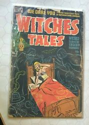Witches Tales 2 1951 Blonde Lingerie On Bed Eye Injury Harvey Comics Pch Key