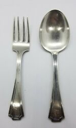 Gorham Fairfax Sterling Baby Fork And Spoon Set Engraved Jim