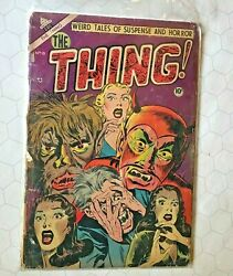 Precode The Thing 10 1953 Horror Comic Weird Tales Cdc Suspense Pch Scarce