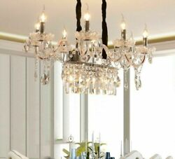 Candle Crystal Chandelier Lights Home Interior Luxury Glass Crystals For Bedroom