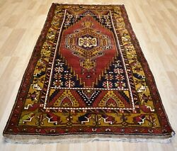 Antique Never Used Caucasian Kazak Handmade Dowry Rug 4ft 4and039 X 9ft Free Shipping