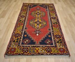 Vintage 1970and039s Antique Handmade Anatolian Rug 3 Ft 11 X 7 Ft 8 Free Shipping