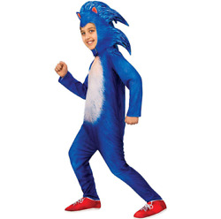 Anime Sonic the Hedgehog Kids Costumes Bodysuit Cosplay Performance Jumpsuit