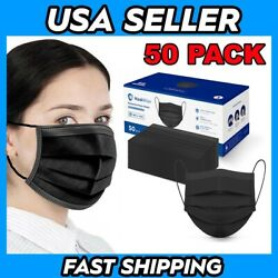 50 Pack Protective Face Masks USA Seller Fast Shipping! $9.94
