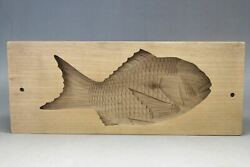 Used Kashigata Pastry Mold Wagashi Antique Sea Bream About 36cm From Japan