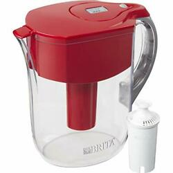 Brita Grand Water Filter Pitcher Red  10 Cup