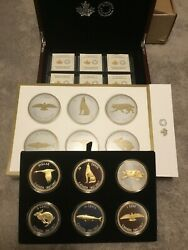 Rcm Complete 2017 Big Coin Series Alex Colville With Mint Certificates.