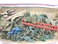 Antique Plastic Bakelite Green Army Soliders Vintage Playset Marx Parts Lot