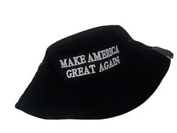 MAGA President Donald Trump Make America Great Again Hat Black Bucket Hat $14.99
