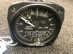 United Instruments Manifold And Fuel Pressure Indicator P/n 6080-h46 Rep Tg 12253