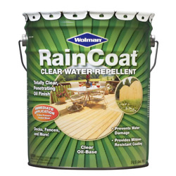 5 Gal. Raincoat Clear Oil-based Water Repellent Sealer Outdoor Wood Final Finish